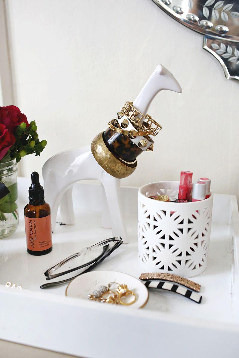 10 Quirky Jewelry Storage Ideas via www.abeautifulmess.com