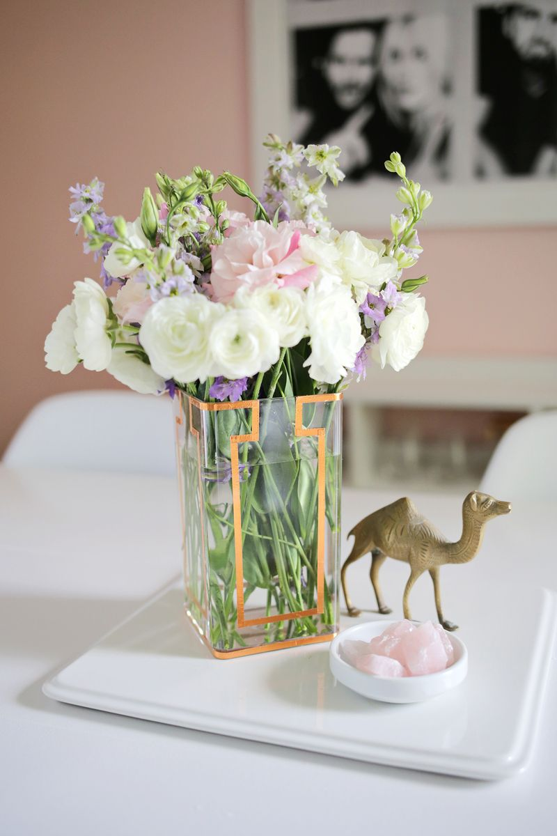 Copper Tape Vase DIY (click through for tutorial)