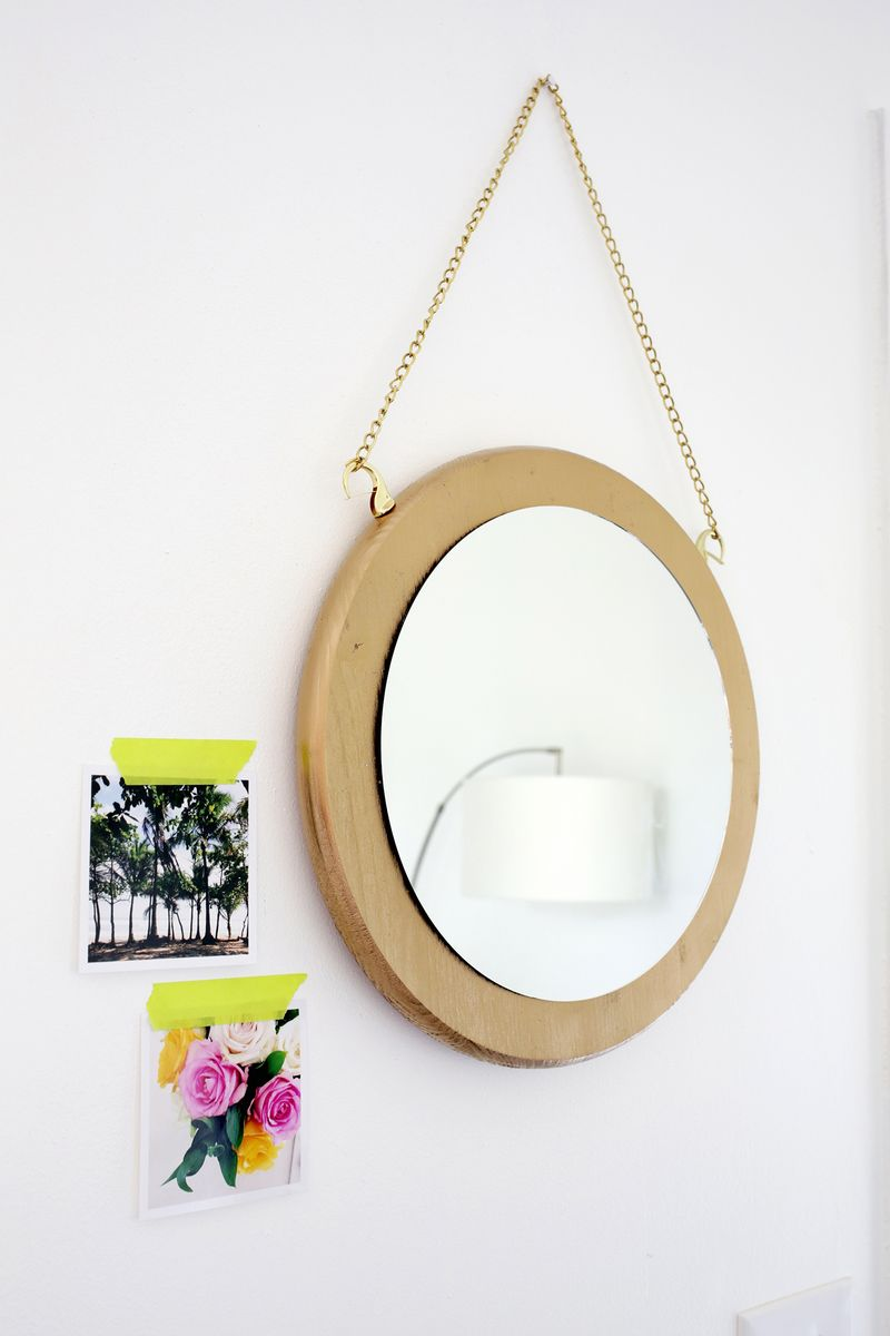 Circle Chain Mirror Diy A Beautiful Mess