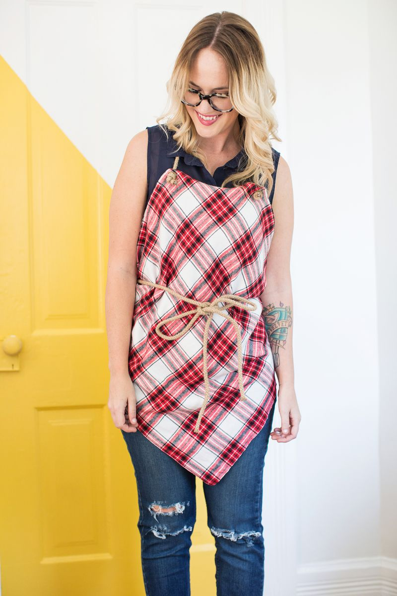 How to make a no sew apron