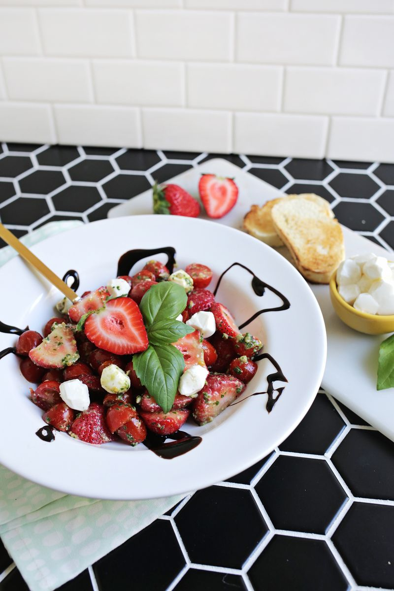 Strawberry caprese salad! (click through for recipe)