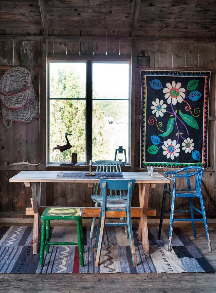 Rustic Scandinavian dining room
