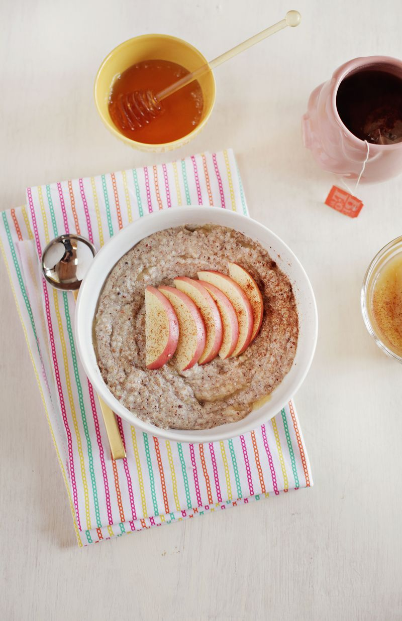 Apple sauce and honey hot cereal