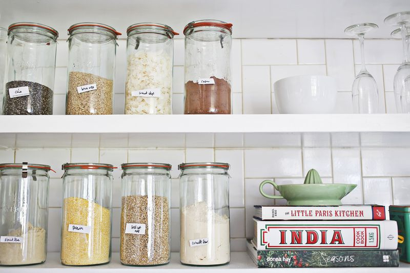 Try This- Paint Pen Kitchen Organization via A Beautiful Mess