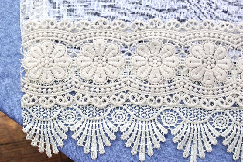 Second row of lace applied