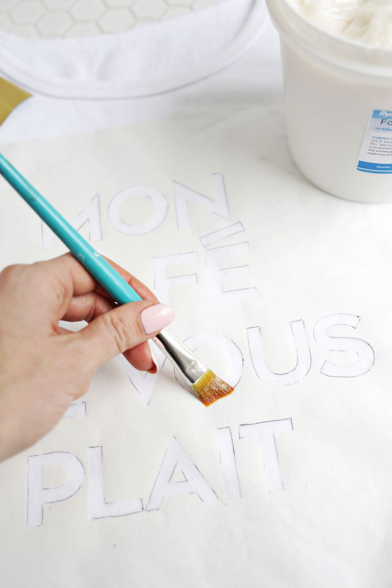 Gold foil phrase DIY! (click through for tutorial)