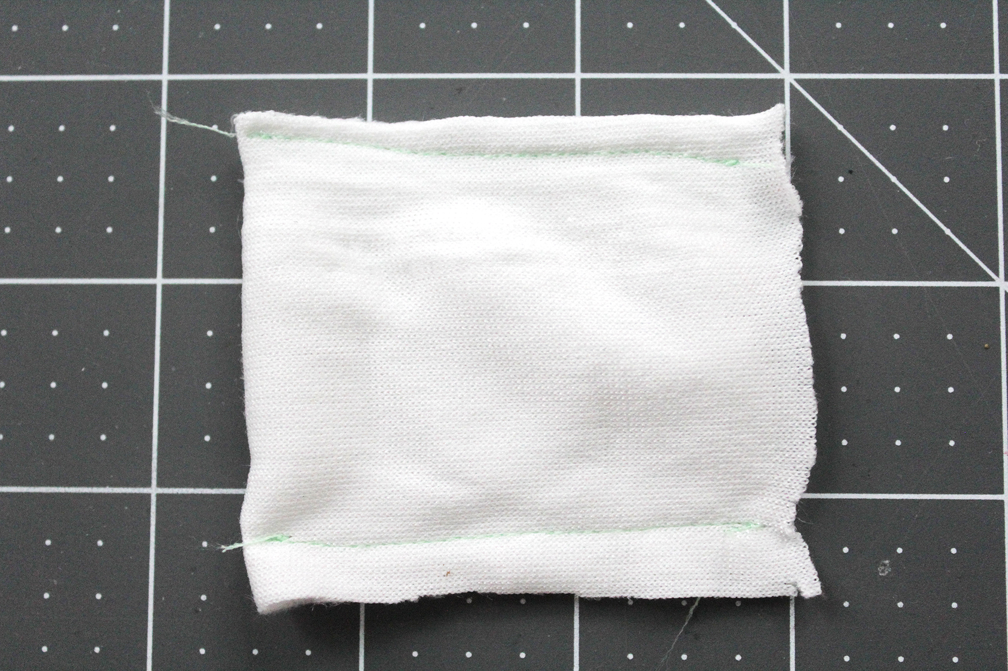 Step 9- fold pillow fabric in half and stitch sides