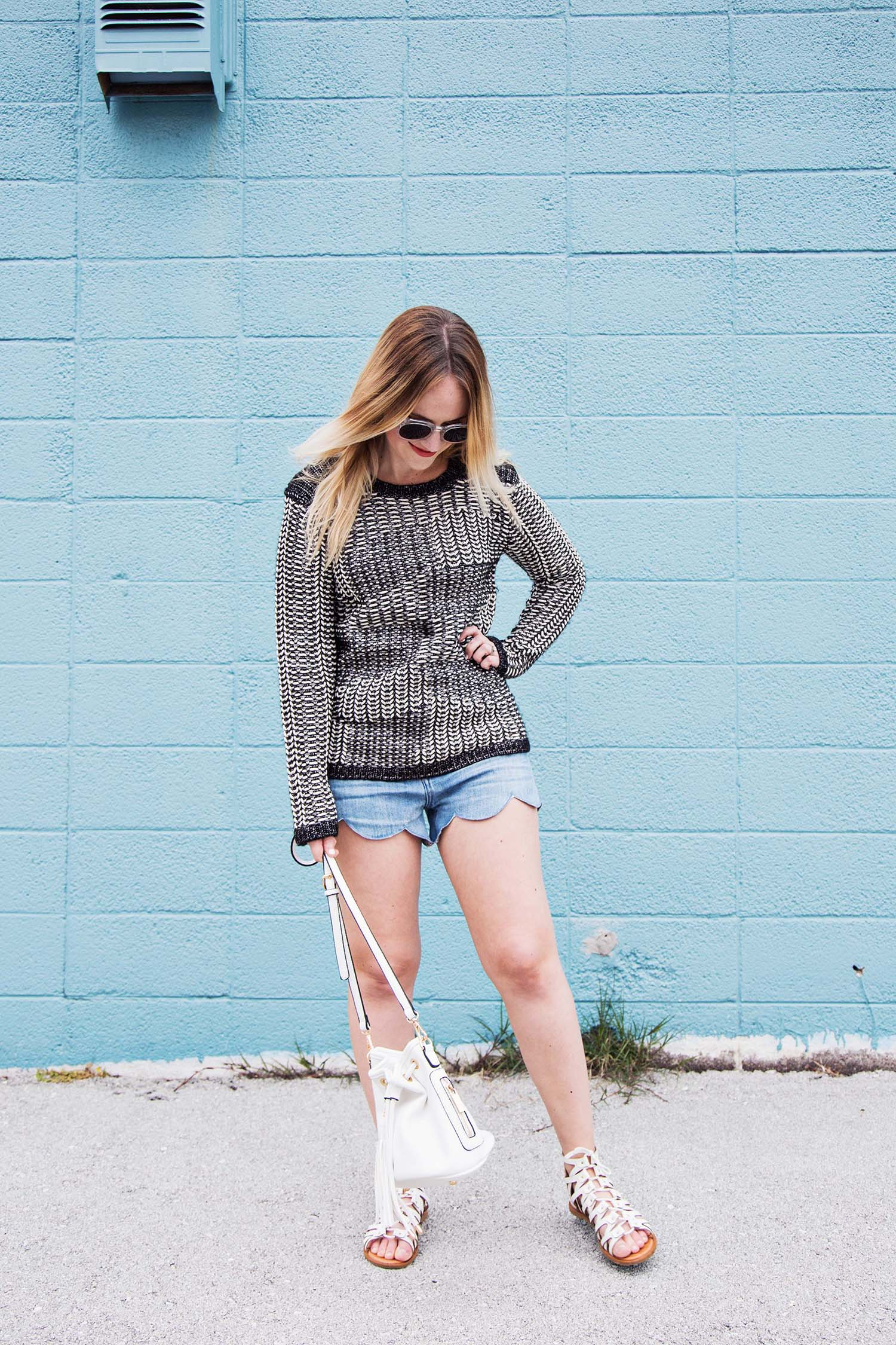 Sweaters and shorts