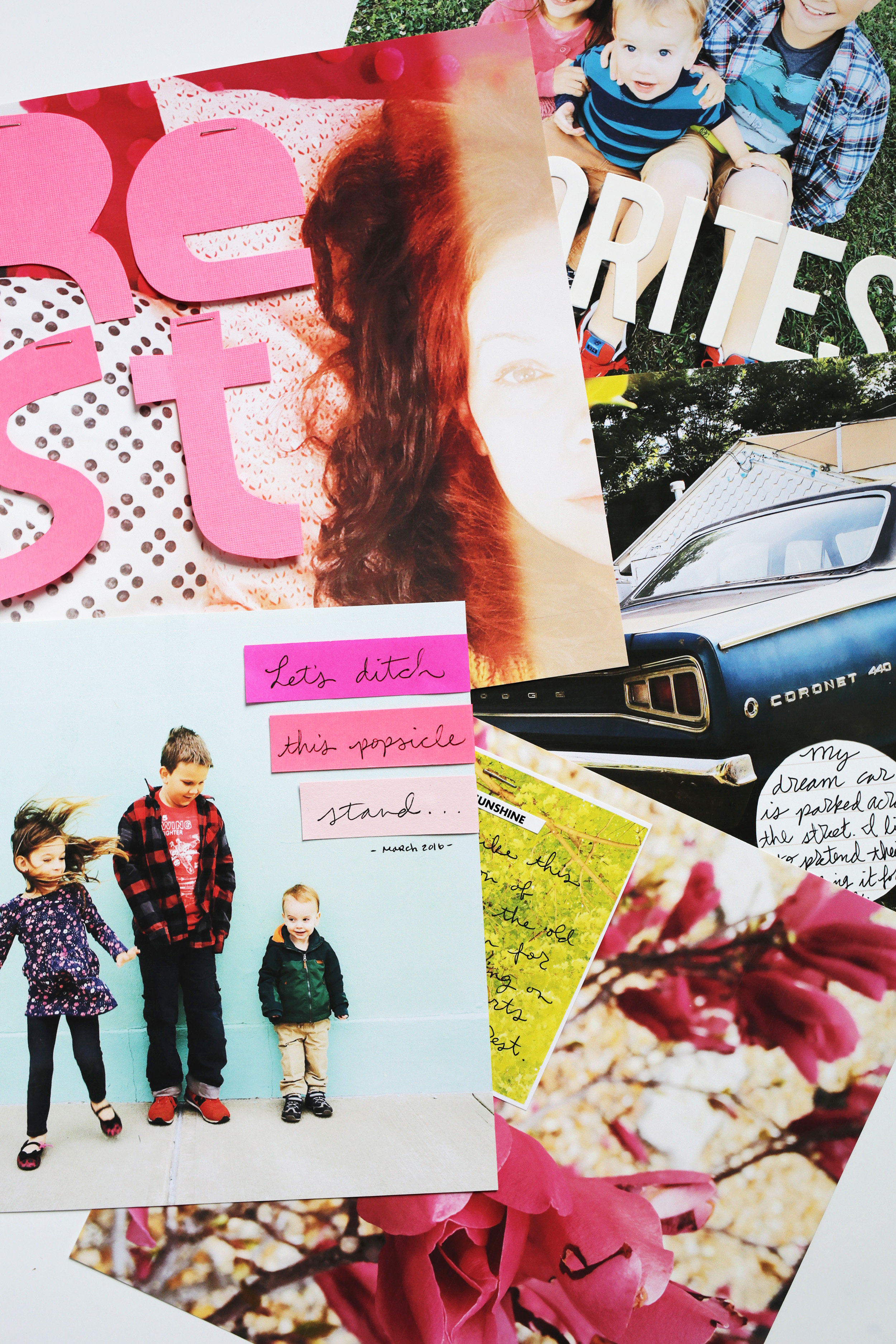 Simple scrapbook ideas using full page photos over at www.ABeautifulMess.com