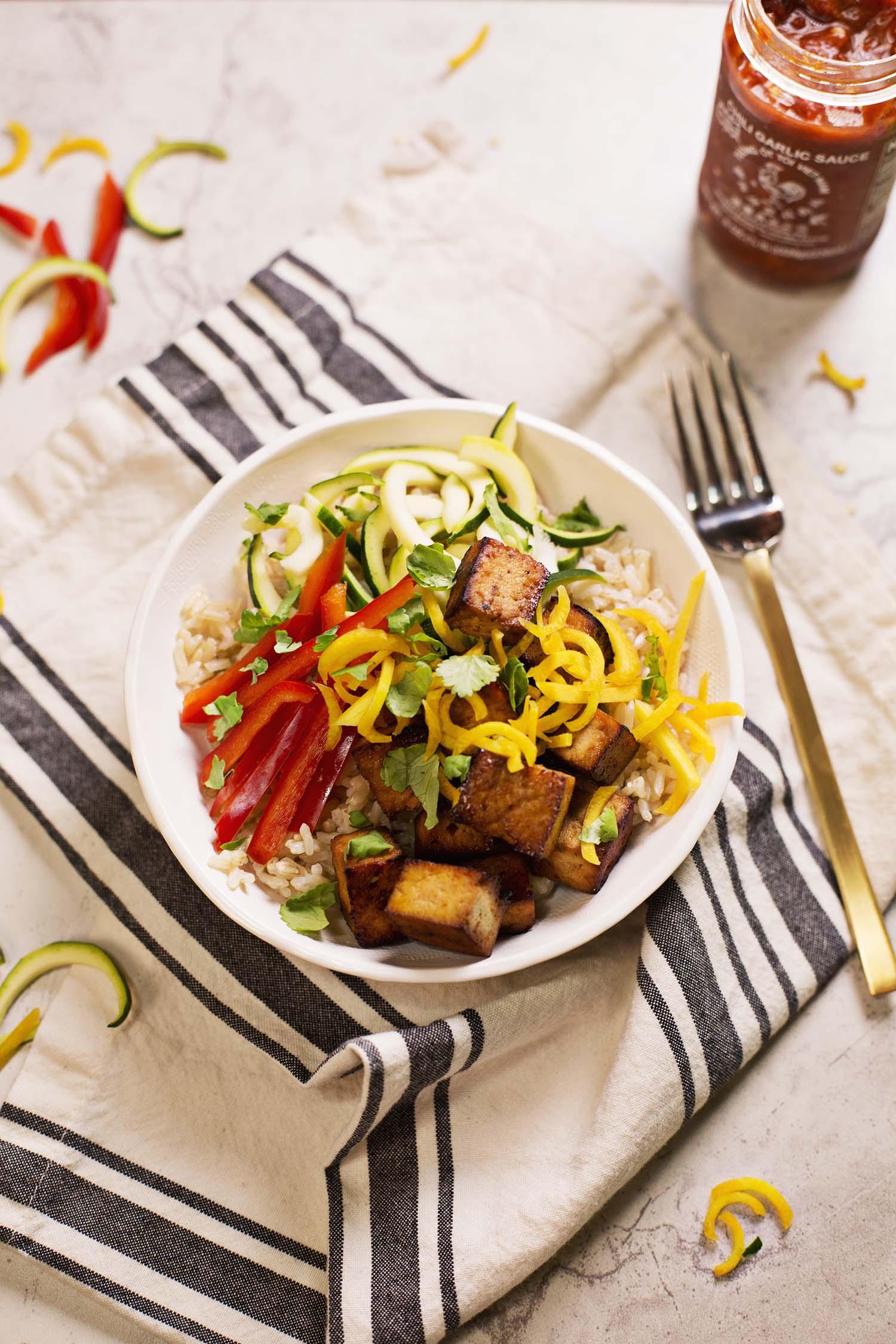 Spicy Brown Rice Bowls (via abeautifulmess.com)