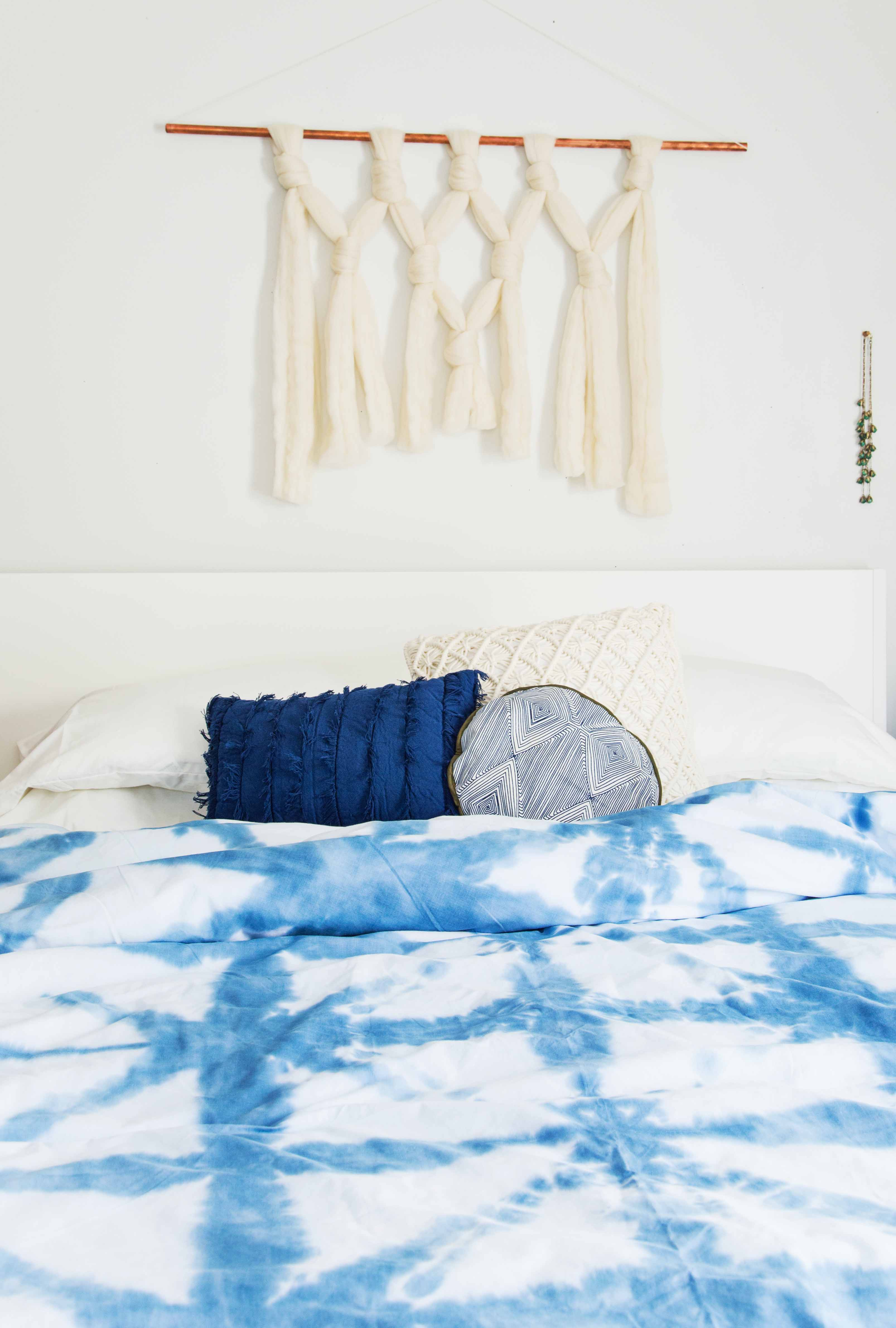 Recreate A Spa Like Feel With This Bedroom Refresh And Shibori Style Diy A Beautiful Mess