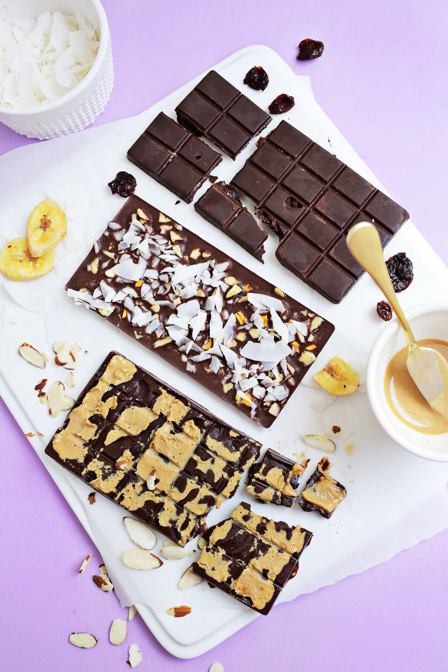 Healthy Chocolate Bars 3 Ways A Beautiful Mess