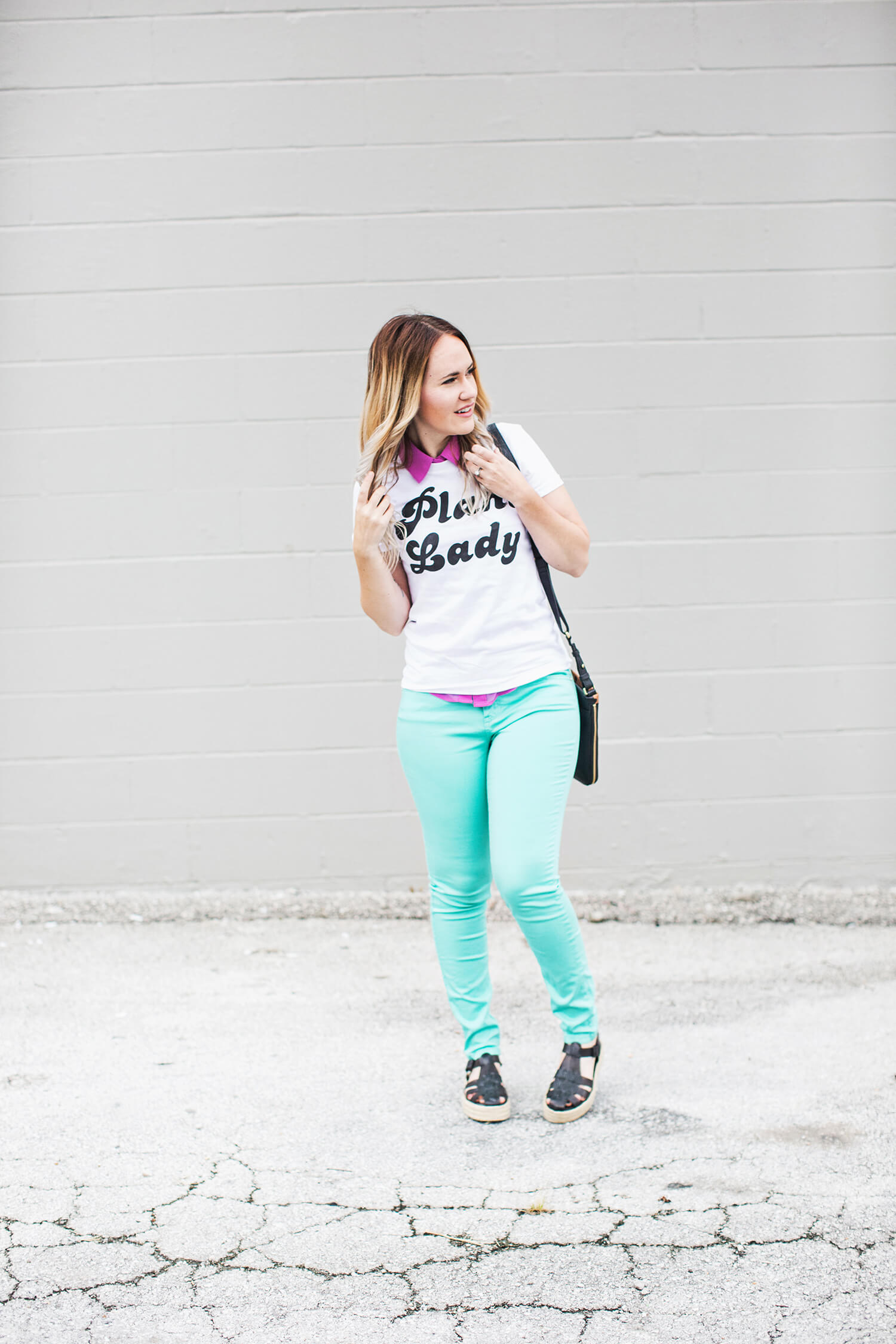 Pastels and plant lady tee