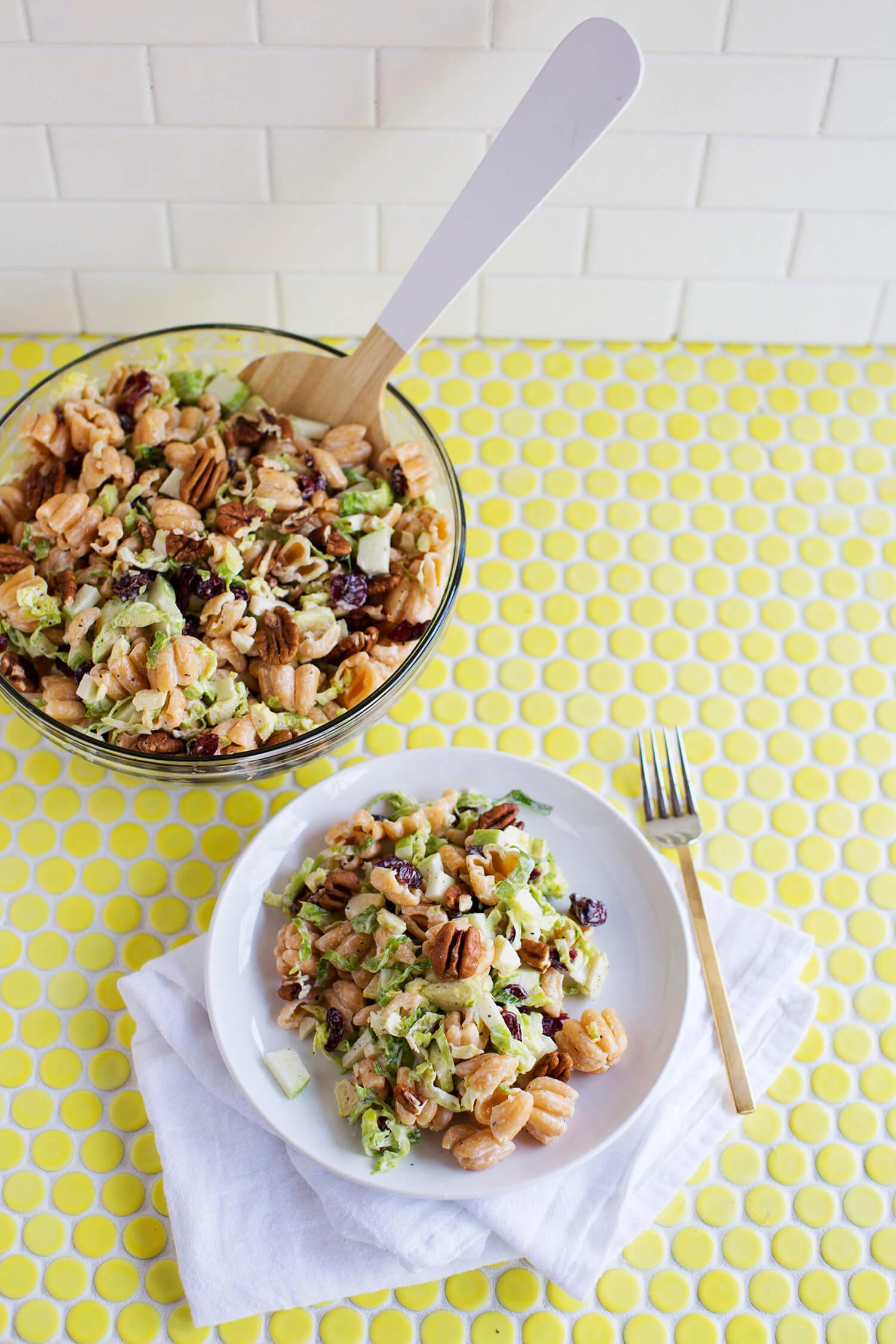 Creamy Winter Pasta Salad (via abeautifulmess.com)
