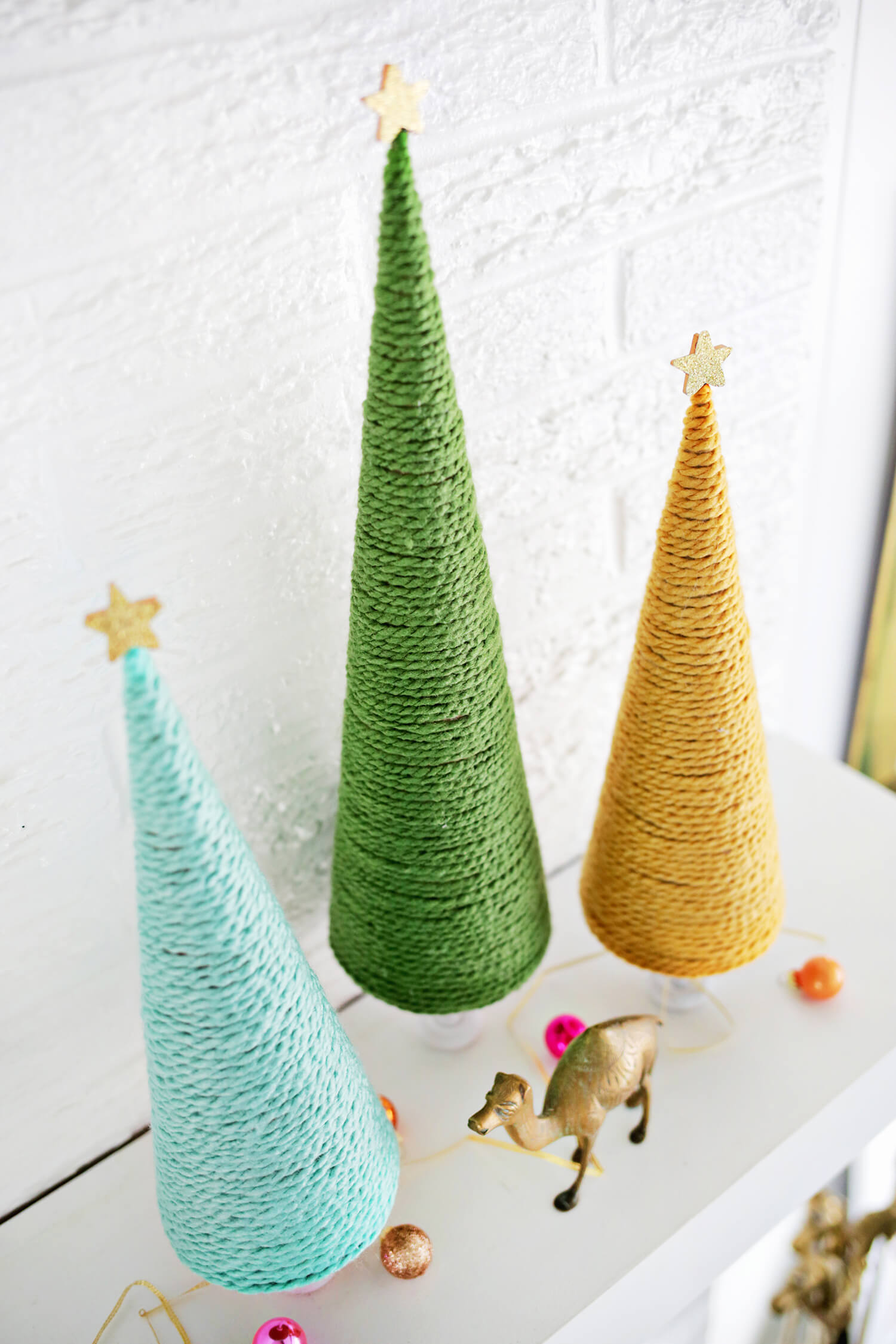 Yarn Christmas Tree DIY A Beautiful Mess