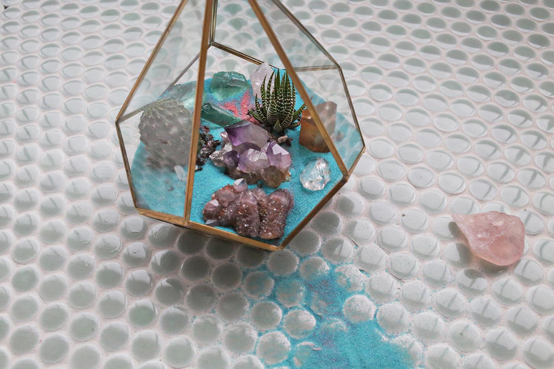 Crystal + Cactus Terrarium
