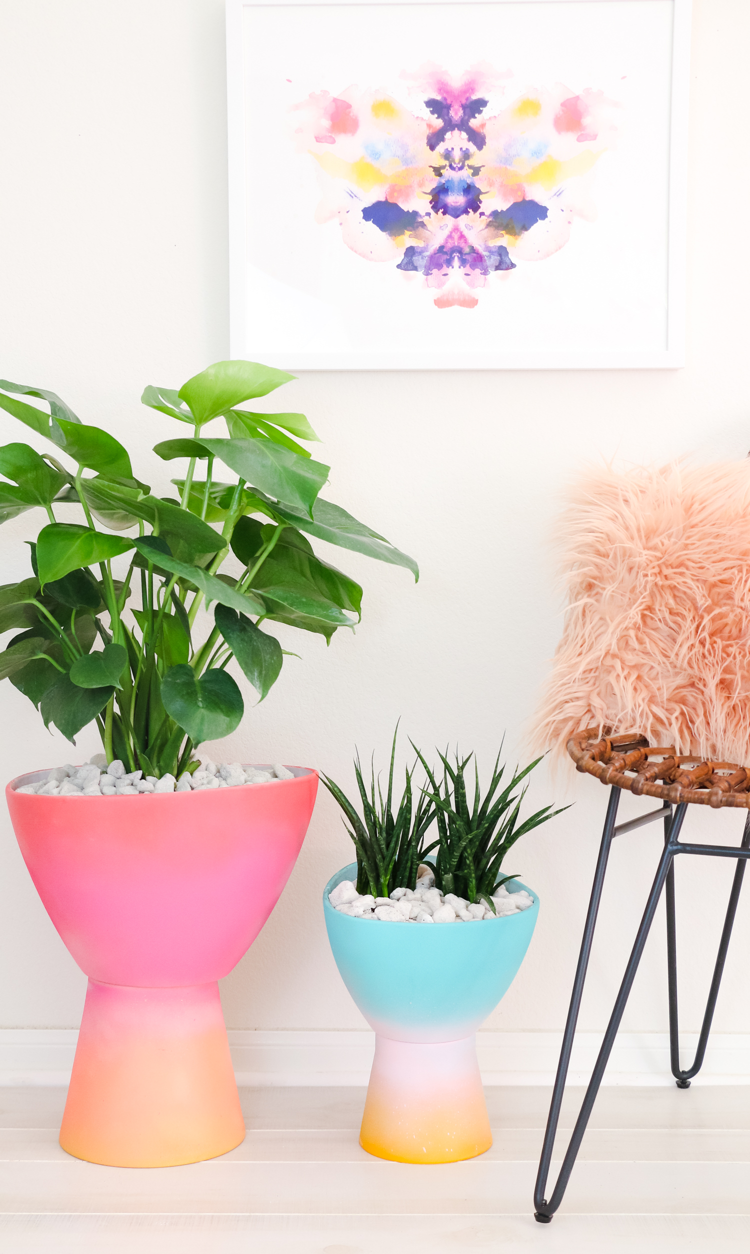 DIY Gradient Planter (Click Through for Tutorial) _