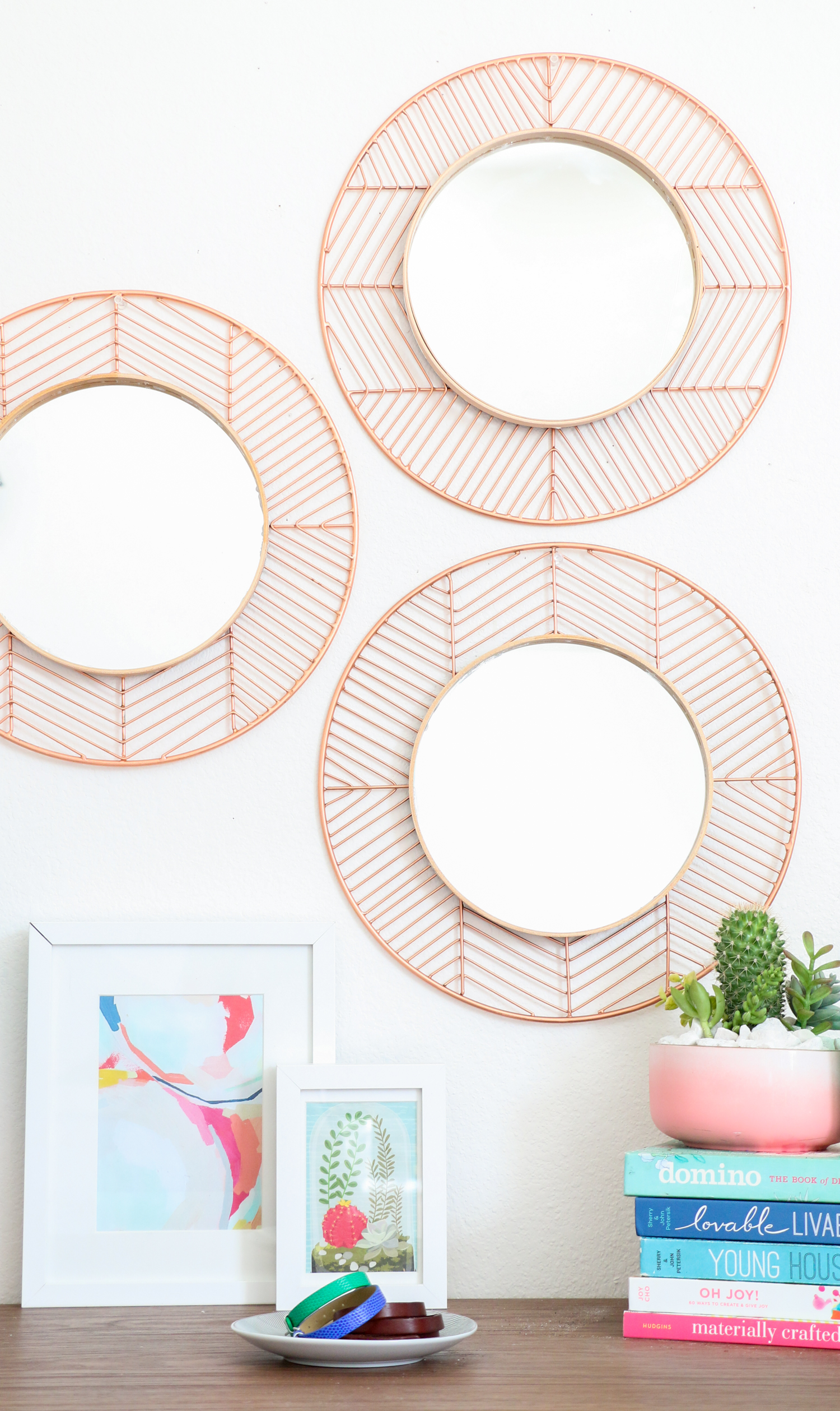DIY Copper and Wood Mirrors (Click Through For Tutorial) _