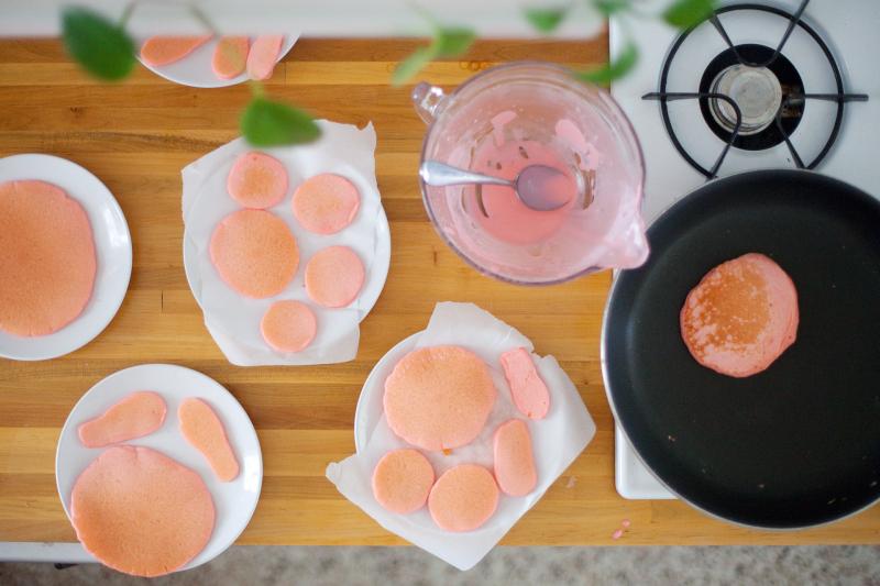 Pink Bunny Pancakes