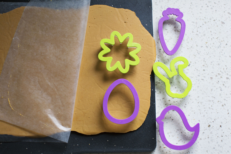 Cookie cutters for the shapes