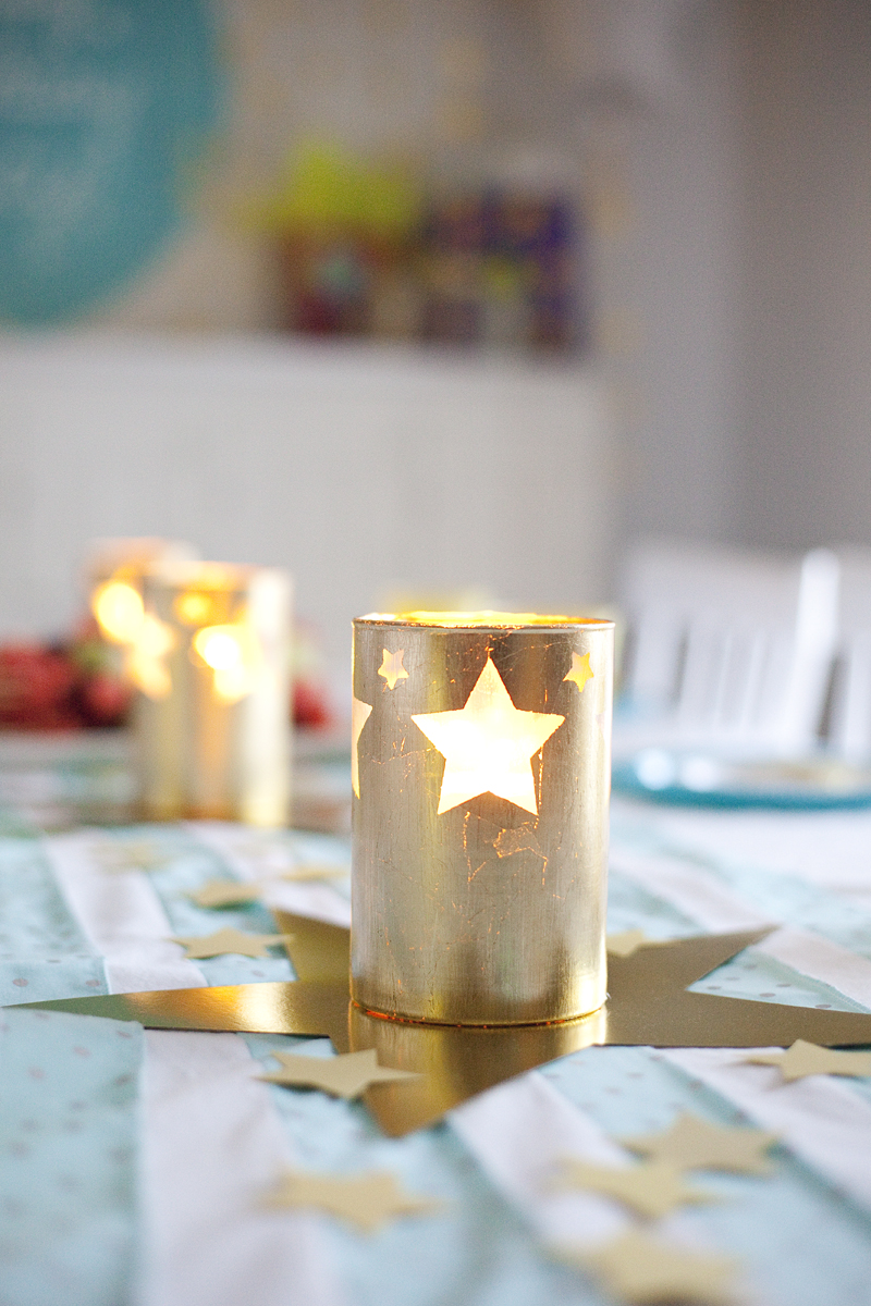 gold leaf hurricane candle holders