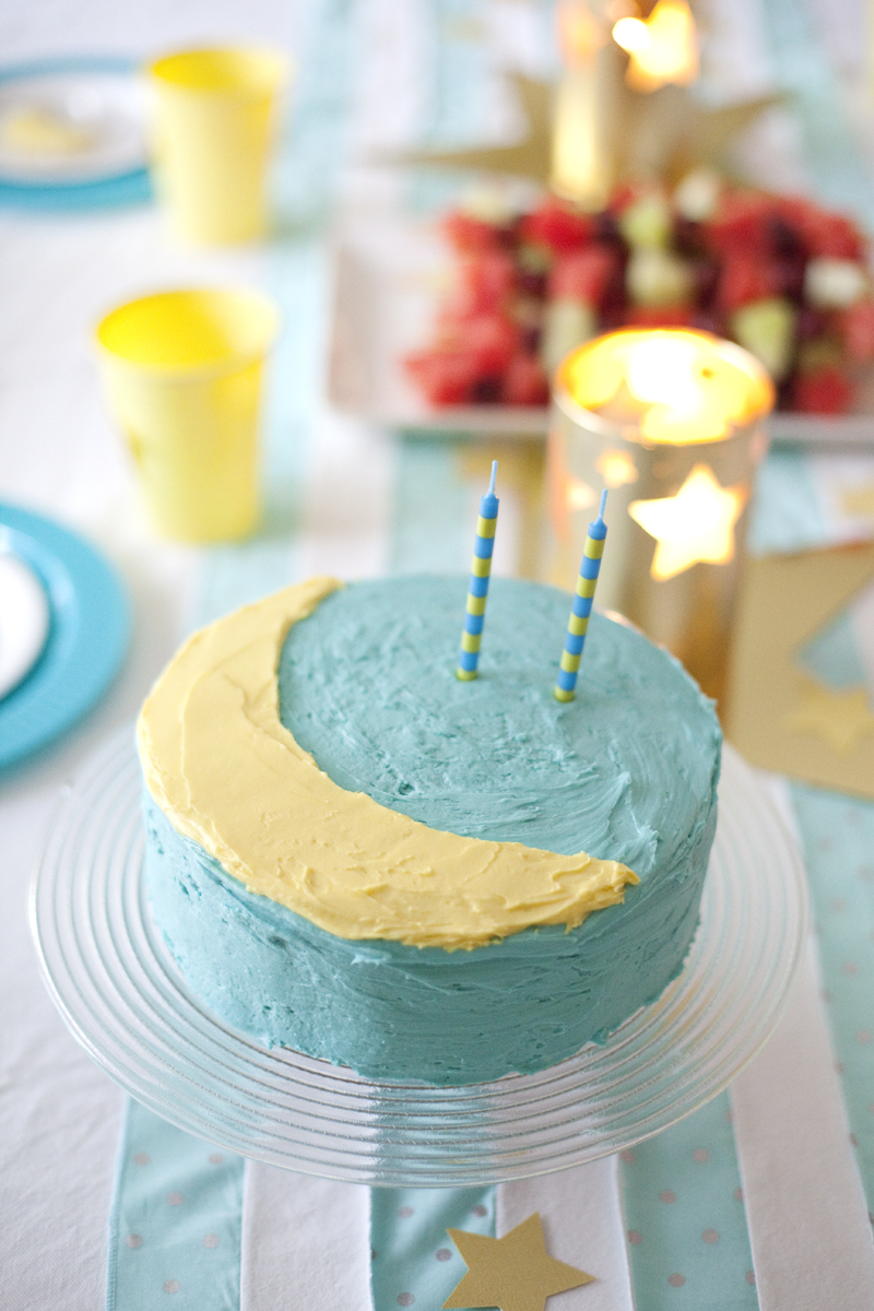 crescent moon birthday cake
