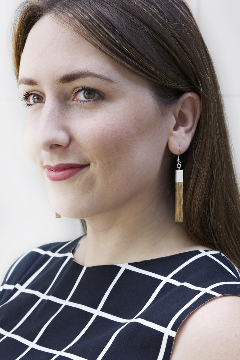 modern wooden earrings