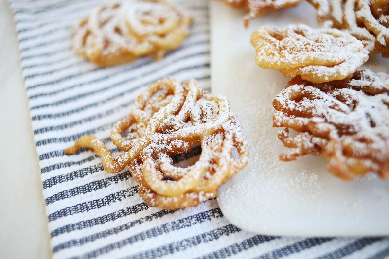 Easiest ever homemade funnel cakes