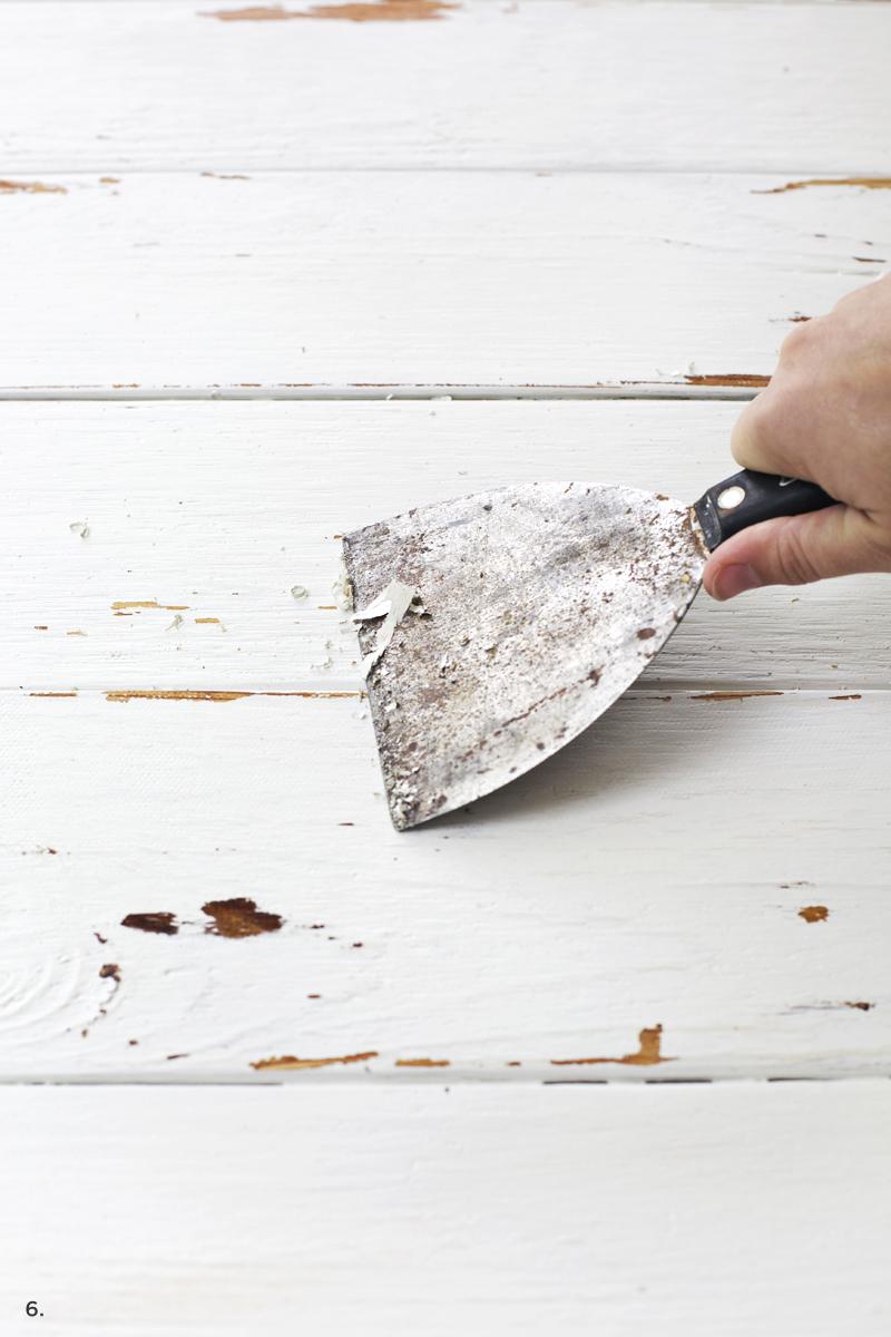 distressed paint technique
