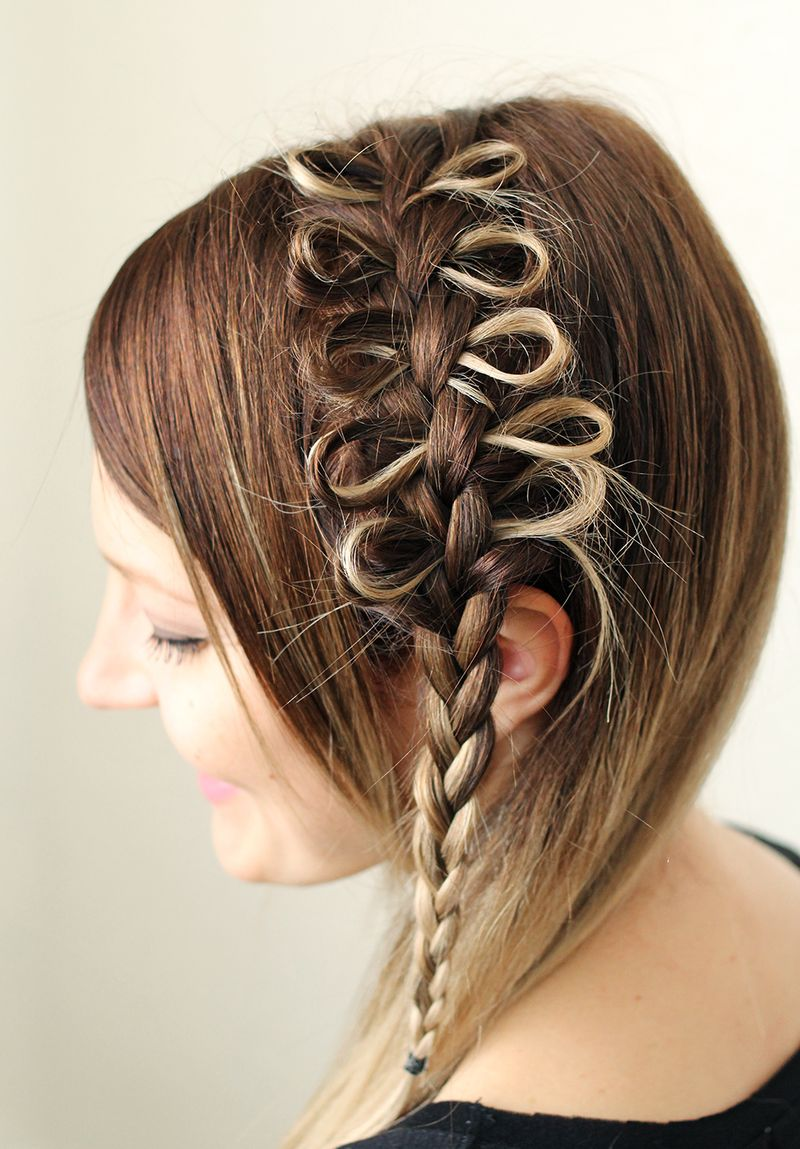 How to style a bow braid