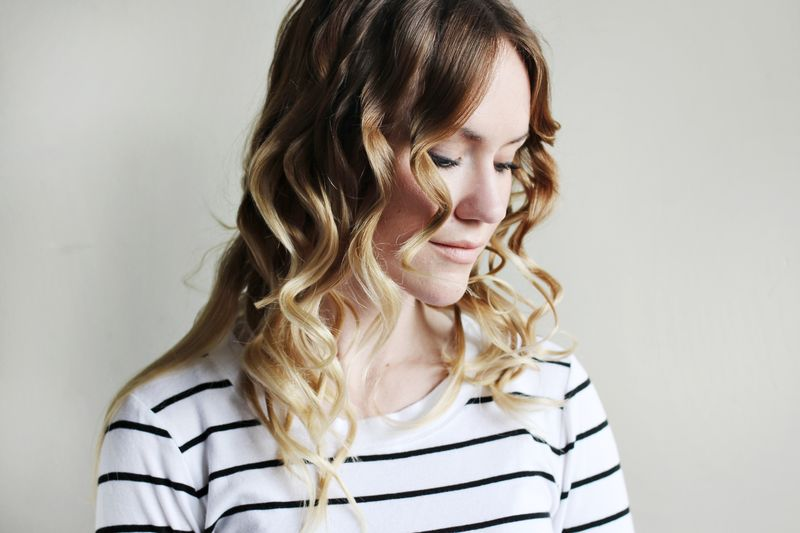 How to style flat iron curls