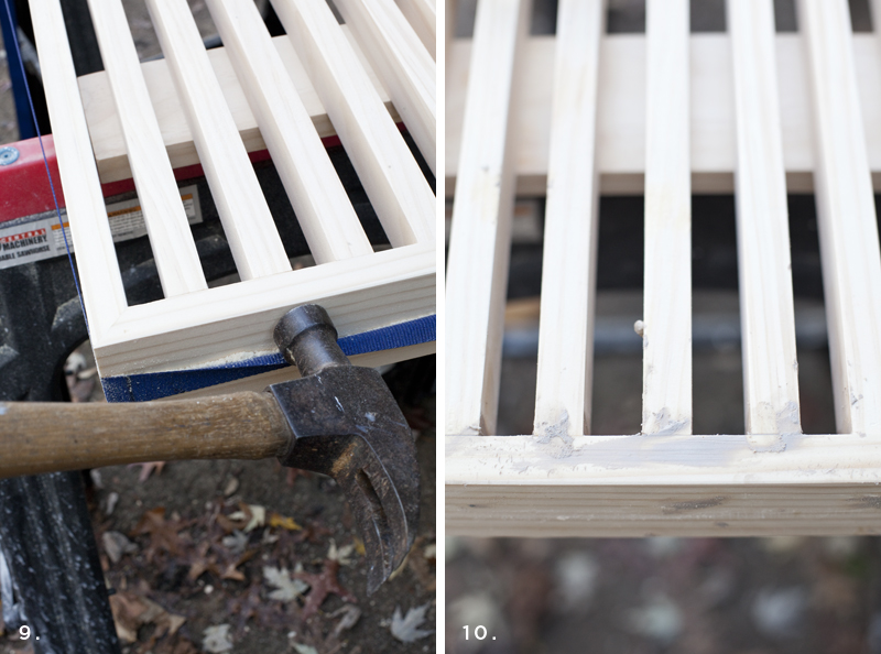 Make this simple slatwood bench- it's easier than you think!