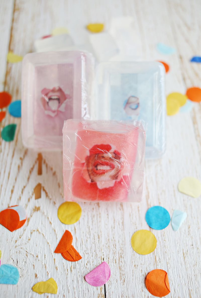 Homemade picture soap by A Beautiful Mess
