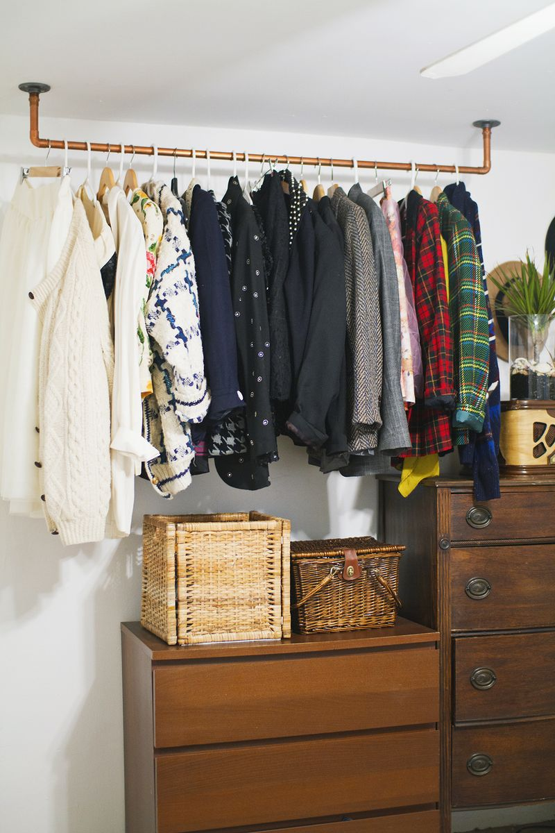 Hanging Copper Pipe Garment Rack Click Through For Diy Details