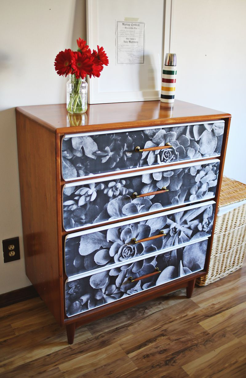 Decoupage photo furniture