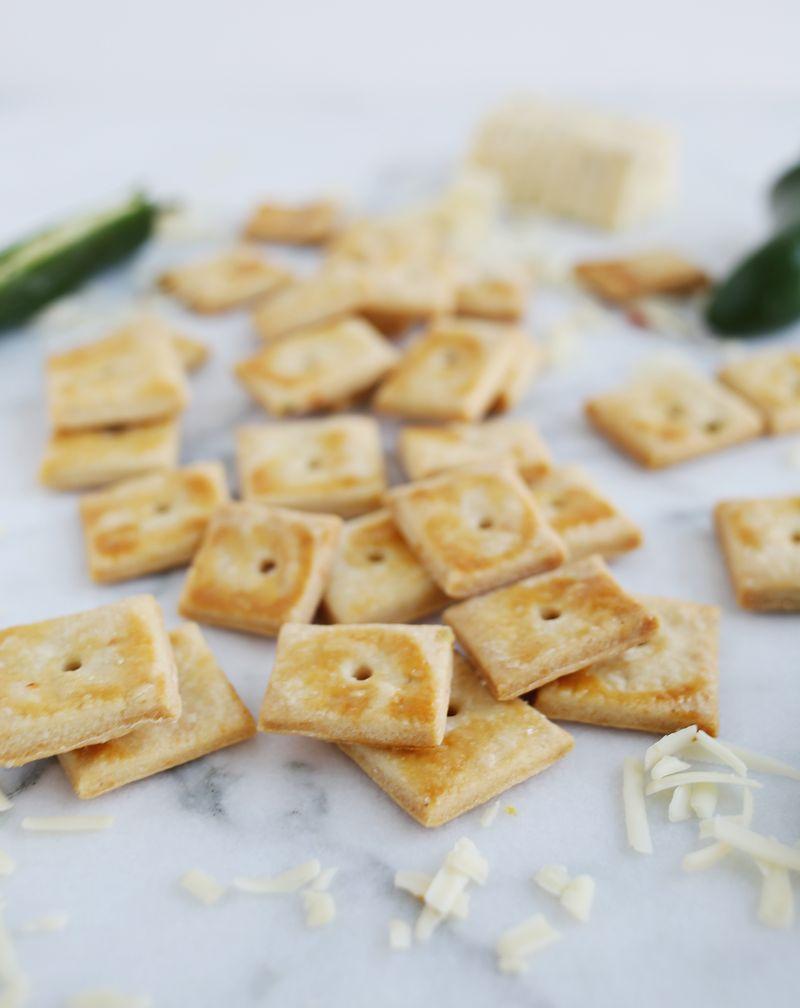 Homemade cheesy cracker recipe via abeautifulmess.com