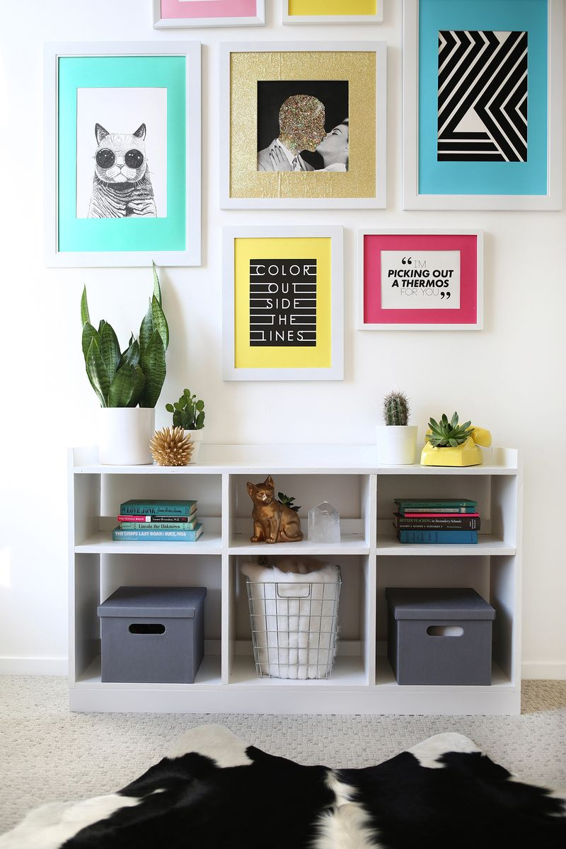 Colorful art room transformation (before + after!)