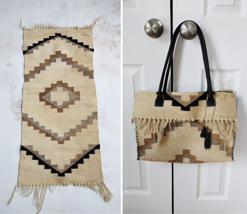 Restyle purse before and after (via abeautifulmess.com)