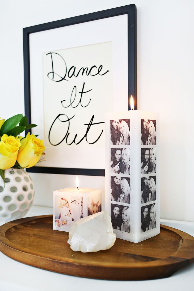 Have to do this! Transfer a photo to a candle! (click through for tutorial)
