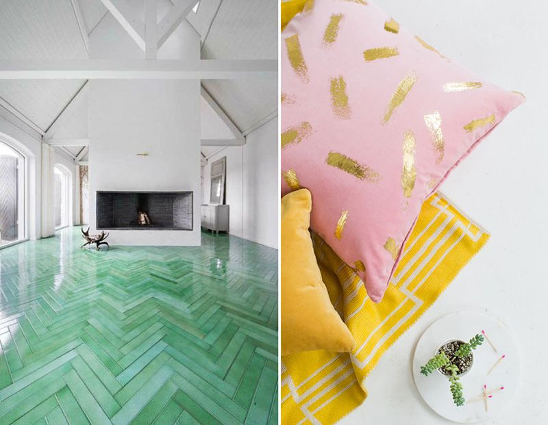 Favorit things-tile and gold foil
