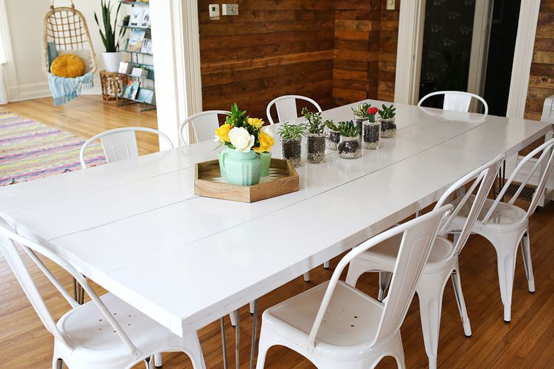 Tips for painting a dining room table a beautiful mess - What do you need to paint a room ...