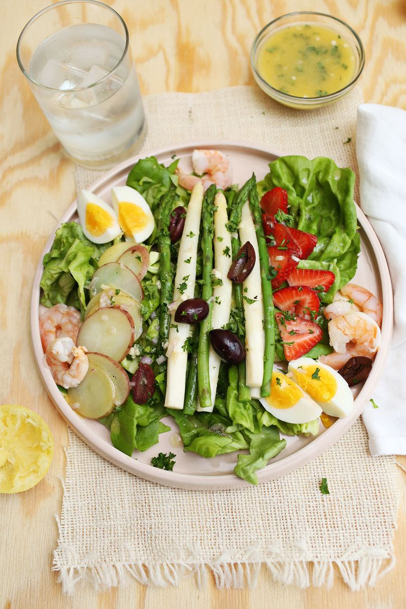 Spring salad nicoise