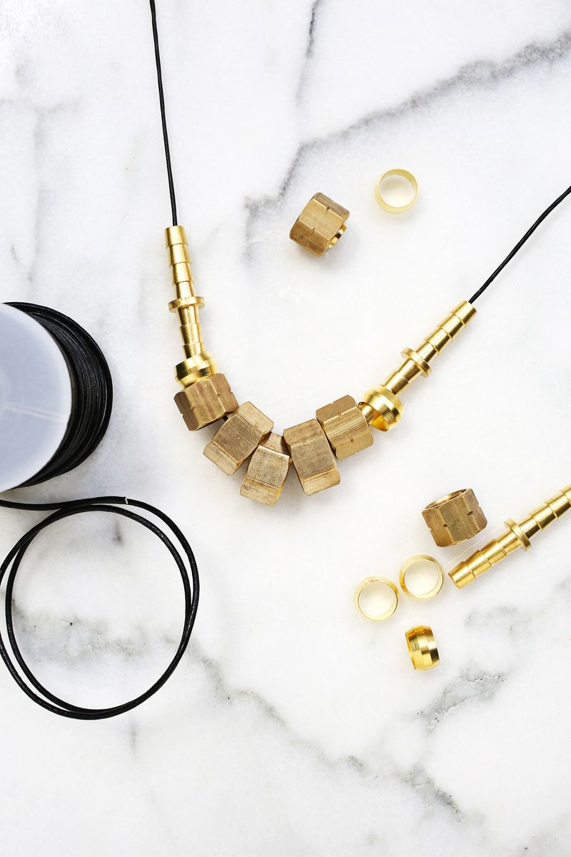 Have to make this! Jewelry with unique hardware store hardware (click through for more)
