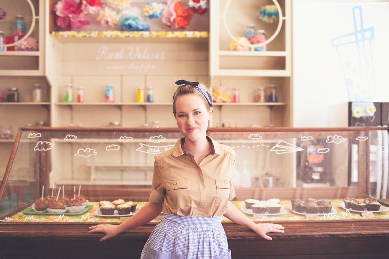 Emma at the Red Velvet sweet shop