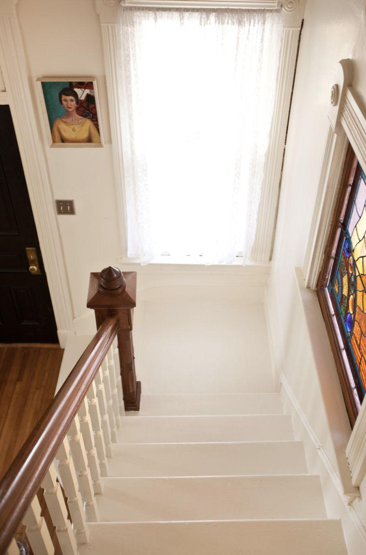 White staircase