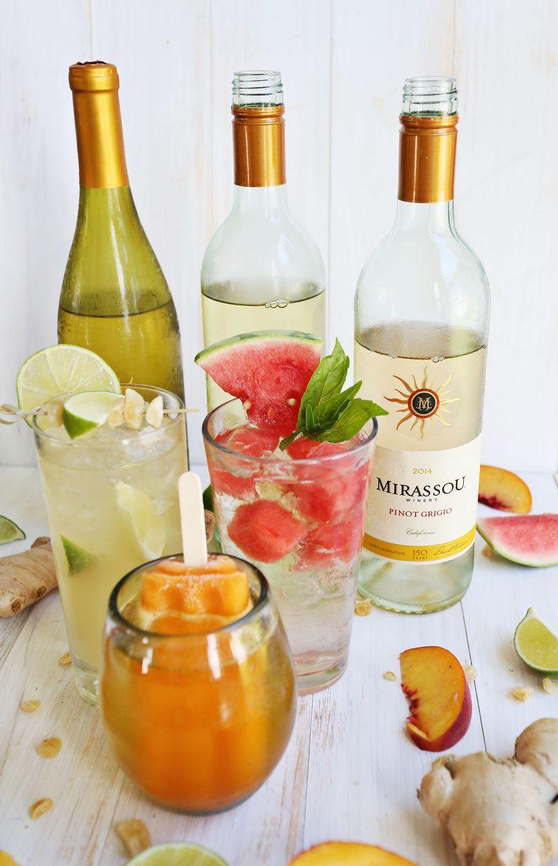 White wine spritzer 3 ways