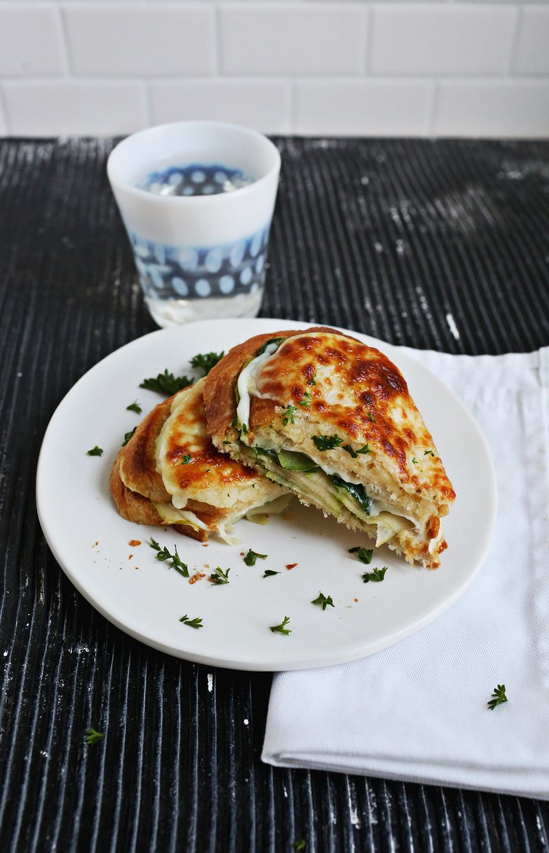Baked Cheesy Apple Sandwiches