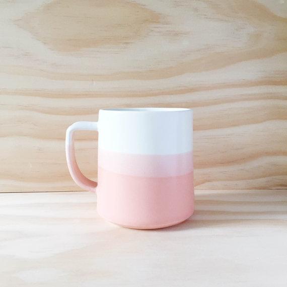 Pretty dipped mug