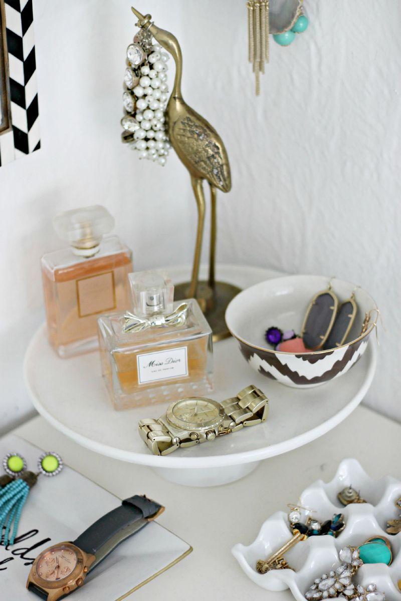 Perfume and jewelry