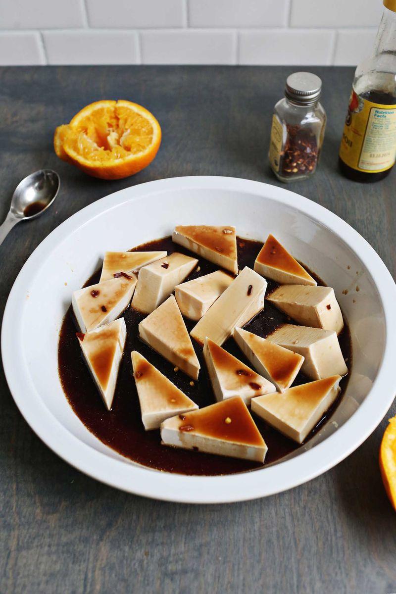 How to marinate tofu